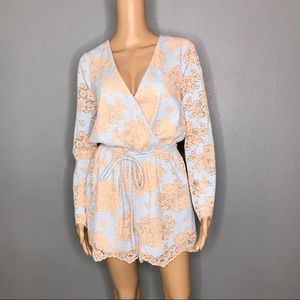 Just Me lace long sleeve romper